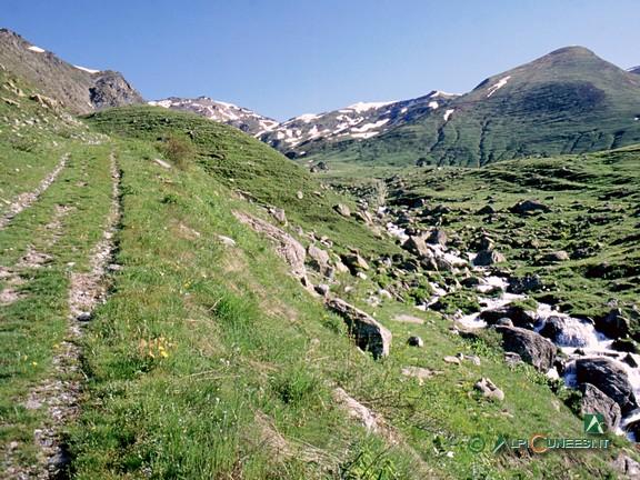 1 - Il Rio Milanese che attraversa i pascoli di Pian Chirlè (2004)