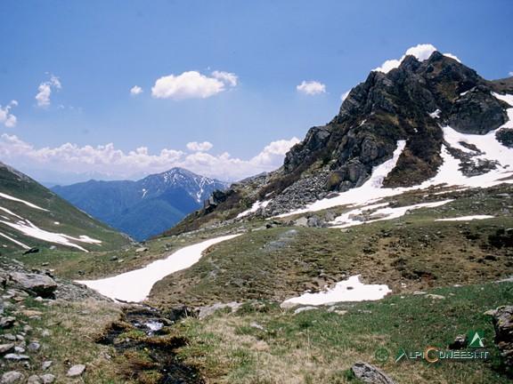 12 - Panorama verso valle dai pressi del Colle di Luca (2004)